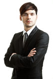 Business man with black suit Stock Image