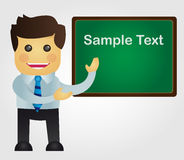 Business man with blackboard. Vector eps10. Business man with blackboard Stock Photo