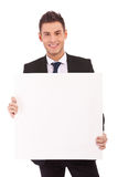 Business man with blank board Royalty Free Stock Photography