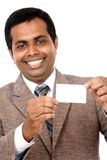 Business man with blank card Royalty Free Stock Image