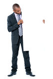 Business Man With Blank Sign Royalty Free Stock Photo