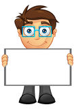 Business Man - Blank Sign 4 Stock Photo