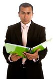 Business man with a book Royalty Free Stock Photos