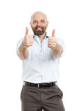 Business man with both thumbs up Royalty Free Stock Photo