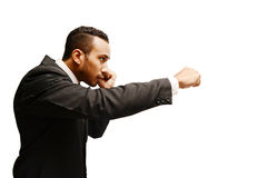 Business man boxing Stock Image
