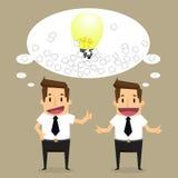 Business man brainstorming Stock Photo