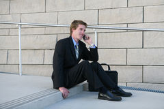 Business Man on Break stock images