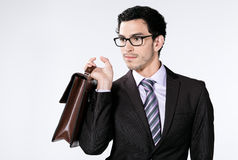 Business Man with Briefcase Stock Image