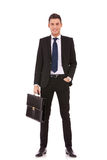 Business man with briefcase Stock Images