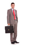 Business man with briefcase Royalty Free Stock Photo