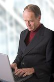 Business Man browsing in his office Royalty Free Stock Photography