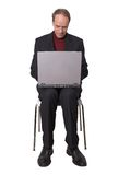 Business Man browsing on laptop Royalty Free Stock Photo