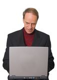 Business Man browsing on laptop Royalty Free Stock Images