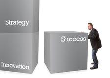 Business man building blocks Stock Images