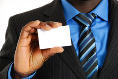 Business man with business card Royalty Free Stock Images
