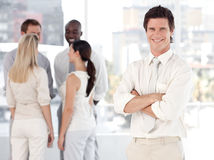 Business man with Business team Royalty Free Stock Images