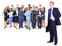 business man and business team Stock Photo