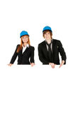 Business man and business woman. Royalty Free Stock Image