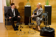 Business man and business woman Stock Photo