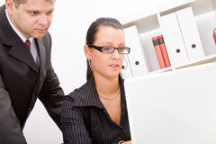 Business man and business woman Royalty Free Stock Photography