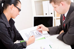 Business man and business woman Stock Image