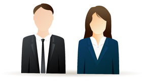 Business man and business woman icons Stock Image