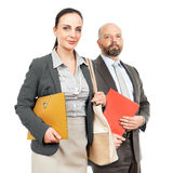 Business man and business woman Royalty Free Stock Photo