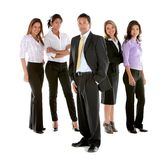Business man among business women Royalty Free Stock Photos
