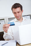 Business man buying online Stock Photos