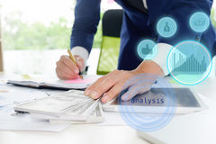 Business man calculate accountant. Stock Photography