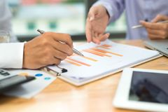 Business man calculating budget numbers, Invoices and financial royalty free stock photos