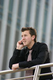 Business man call - bad news Royalty Free Stock Photo