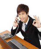 Business man call phone Royalty Free Stock Image
