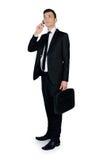 Business man call phone Stock Image