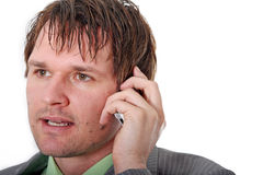 Business Man Calling Royalty Free Stock Image