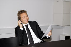 Business man calling Stock Photo
