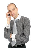 Business man calling on phone Royalty Free Stock Photos