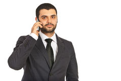 Business man calling by phone Royalty Free Stock Photos