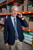 Business man calling on the phone Stock Image