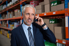 Business man calling on the phone Stock Images