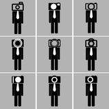 Business man camera head set Royalty Free Stock Image