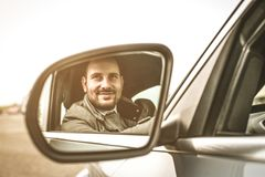 Business man in car. royalty free stock images