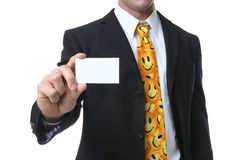 Business Man with Card Royalty Free Stock Photos