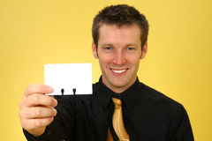 Business Man and Card Stock Image