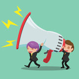 Business Man Carry Megaphone Advertisement Vector Stock Photography