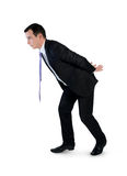 Business man carry something. Business man carry something Royalty Free Stock Photo