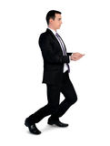 Business man carry something Stock Images