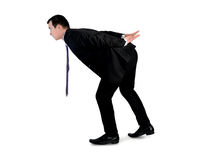 Business man carry something. Isolated business man carry something Royalty Free Stock Photos
