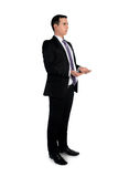Business man carry something Royalty Free Stock Photos