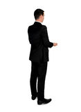 Business man carry something. Isolated business man carry something Stock Image
